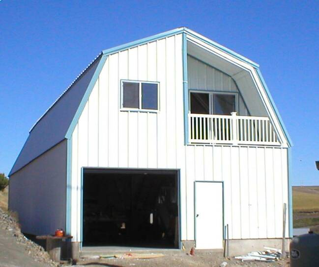 Pin Gambrel Roof Buildings Barn Pole Building Gallery On